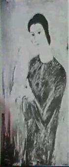 femme au perroquet vert by jules fehr