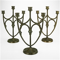 assembled candelabra (set of 3) by e.t. hurley