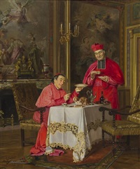 cardinals taking tea by gennaro avitabile
