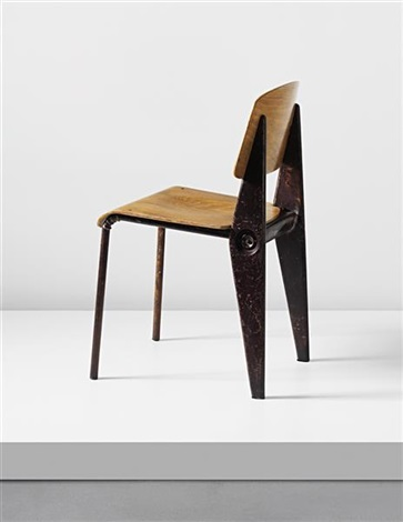 rare demountable cafétéria chair model no 300 designed for the air france building brazzaville by jean prouvé