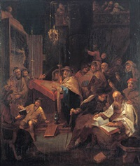praying in the synagogue by daniel boone