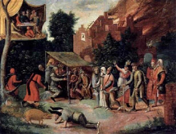 die versuchung des heiligen antonius by jan mandijn
