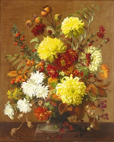 chrysanthemums by john e nicholls