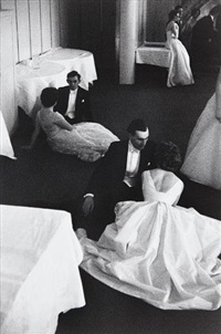 queen charlotte's ball, london, england by henri cartier-bresson