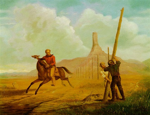 the last ride of the pony express of 1861 by george martin ottinger
