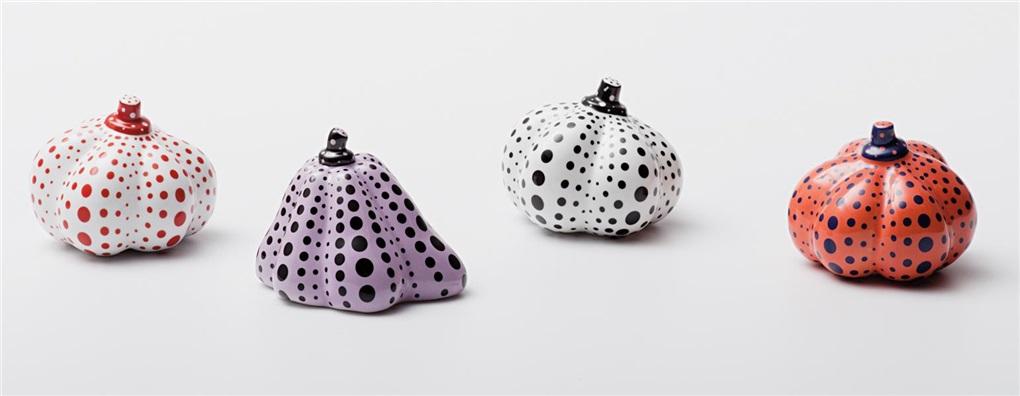 pumpkins 4 works by yayoi kusama