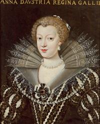 bildnis der königin anna von österreich, gemahlin könig ludwigs xiii. von frankreich by frans pourbus (-unattributable)