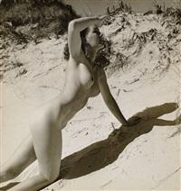 nu féminin dans les dunes (+ couple de femmes nues; 2 works) by heinz von perckhammer