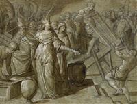 santa elena encuentra la cruz de cristo by bernardino campi