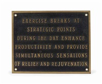 the living series: exercise breaks at strategic... by jenny holzer