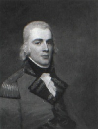 portrait of an officer in uniform, half-length (lt. william claud campbell?) by david allan
