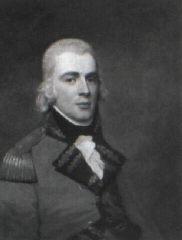portrait of an officer in uniform half length lt william claud campbell by david allan