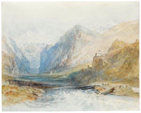 the domleschg valley looking north to the gorge at rothenbrünnen by joseph mallord william turner