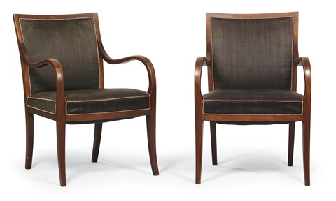 armchairs pair by frits henningsen