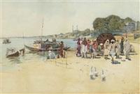 the ghats at benares by robert weir allan
