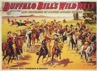 danse des cowboys à cheval by posters: buffalo bill