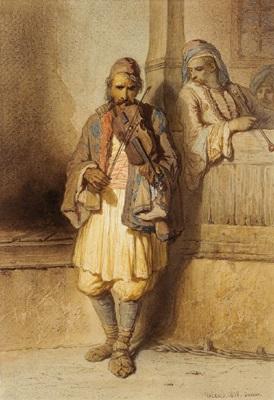 geigenspieler by théodore valerio