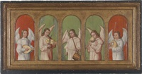 musizierende engel (on 5 joined panels) (+ 1 work on separate, smaller panel) by anonymous-german (15)