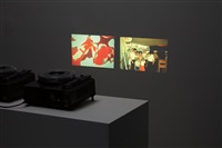 searching for my father in my sister's eyes (2 works) by jonathan monk