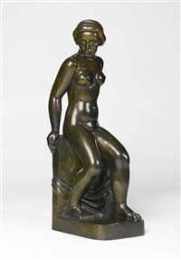 jeune fille assise by aristide maillol
