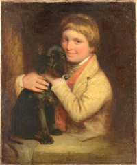 a young boy and his dog by joshua reynolds