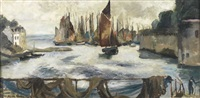 concarneau by edouard-georges mac-avoy