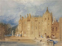 the abbatial house, st. ouen, rouen by john sell cotman