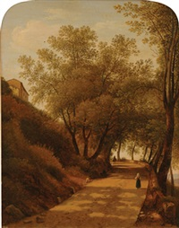 sunlit path by giambattista bassi