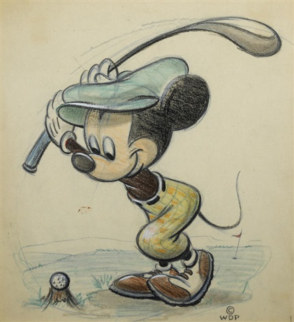 A Drawing Of Mickey Mouse For Colliers Weekly By Walt Disney Studios