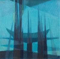 blue abstract by ferruh basaga