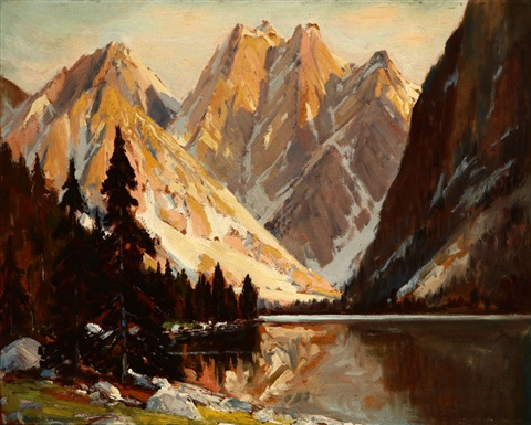 lake in the sierras by alfred richard mitchell