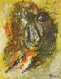 tête jaune by karel appel