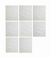 acht (set of 8 works) by jan schoonhoven