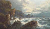 on the wild cornish coast by f. hilder