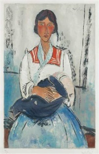 jeune femme assise by amedeo modigliani