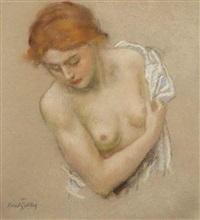 a semi-nude girl by karel spillar
