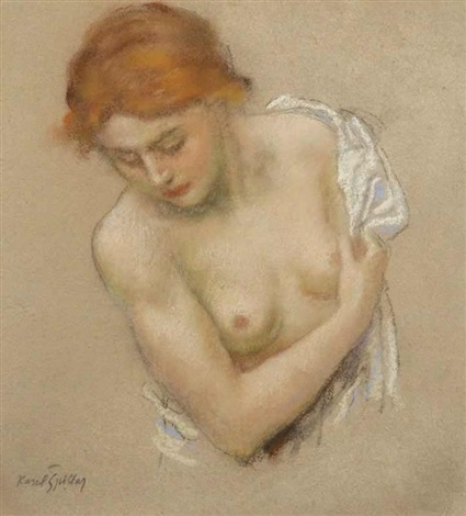 a semi nude girl by karel spillar
