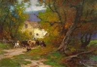 old mill on brandywine by edward henry potthast