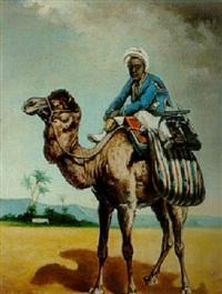 jeune tunisien à dos de dromadaire by jules vittaly