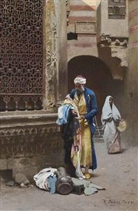 a cairene merchant by raphael von ambros