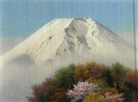 mount fuji in spring by somei tsubouchi