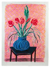 amaryllis in vase by david hockney
