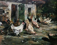 chickens by abraham leroy