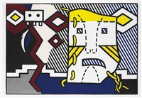 american indian theme v (from american indian theme) by roy lichtenstein