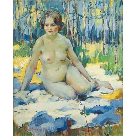 in the woods nude in the forest by ruth a temple anderson