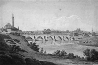 river peneus at larissa by edward dodwell