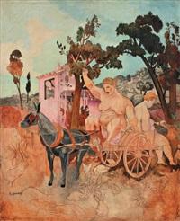 la charrette by alfred louis courmes