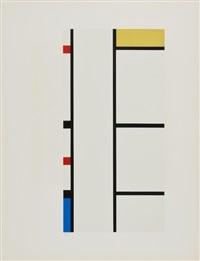 verticale rouge, bleue, jaune by piet mondrian