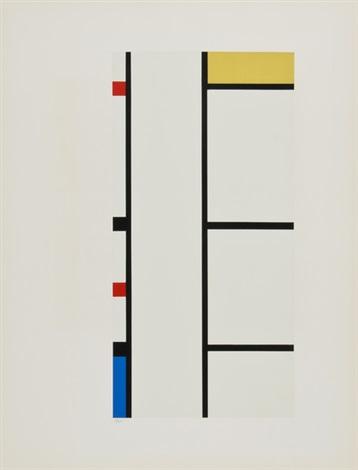 verticale rouge bleue jaune by piet mondrian