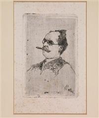 ritratto di uomo con bocchino by giovanni fattori